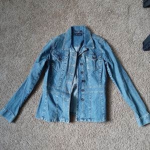 Jean jacket with flare bottom